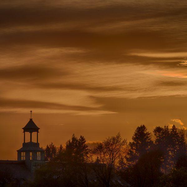 016 - Tårnbygget i solnedgang